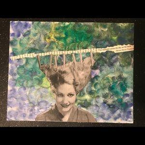 Wall Art - Hairpin Girl painting